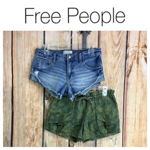 ☮️FREE PEOPLE set of shorts size XS and 24